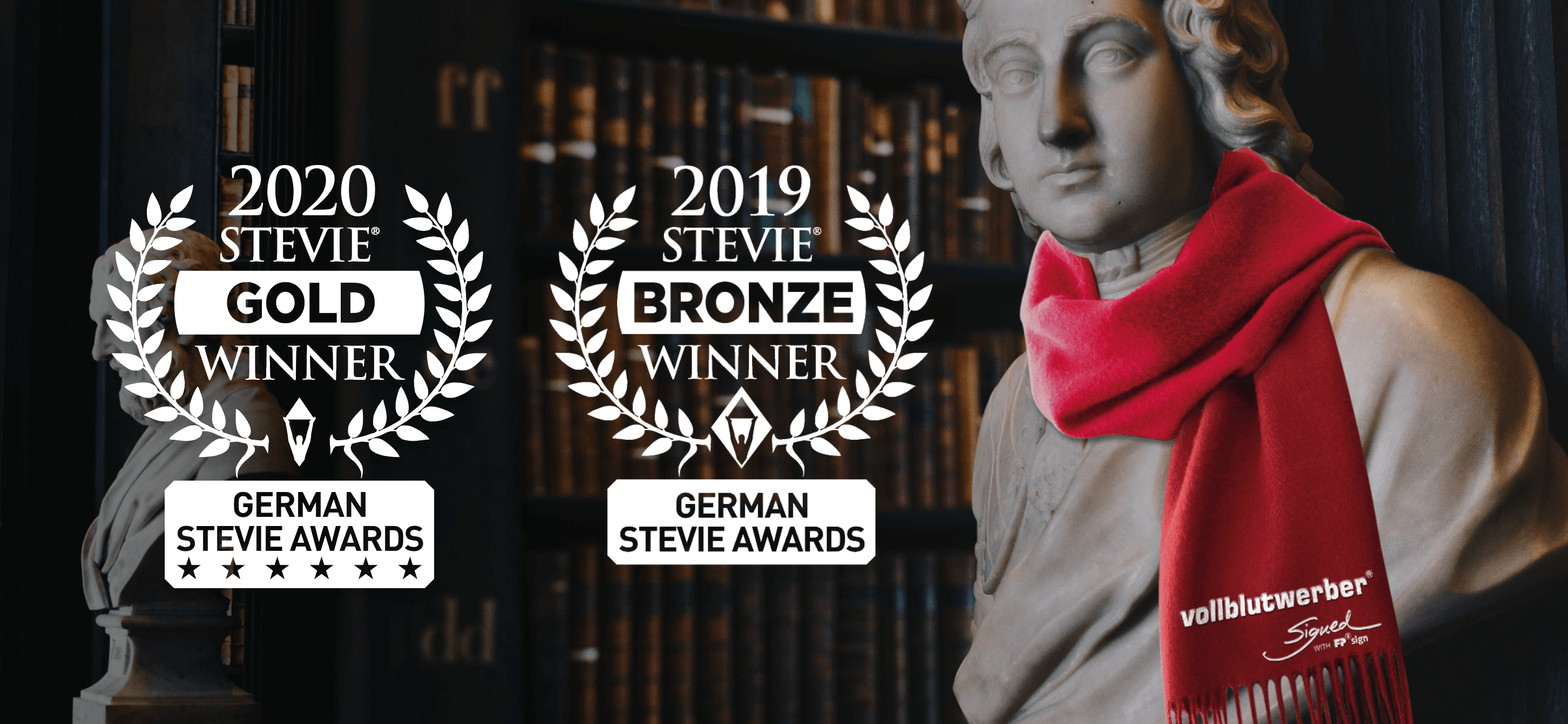VOLLBLUTWERBER gewinnen STEVIE® AWARDS